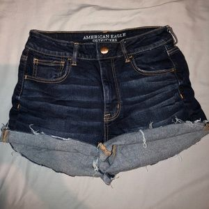 American Eagle denim/jegging material shorts
